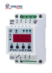 Timer ημερήσιων εβδομάδα RN-16τμ με τη λειτουργία του ηλεκτρονόμου τάσης και ένα ενσωματωμένο φως φραγμού, με τη λειτουργία του βολτόμετρου