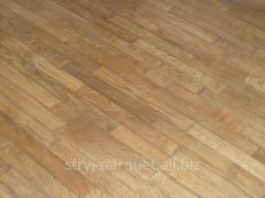 Parquet from the massif of an oak (a parquet