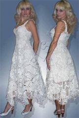 Платье вязанное крючком свадебное