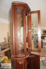 Cases in a hall, different cases wooden with a