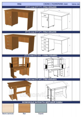 Desktops, furniture wooden from the producer