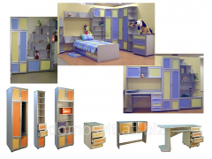 Desks for children, tables for reading rooms of