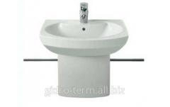 Wash basin with a semi-pedestal of Dama Senso 58