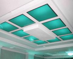 Потолок стеклянный, потолок из стекла, стекло для