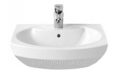 Wash basin with a semi-pedestal of Dama Senso