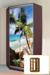 Sliding wardrobes are new, wooden cases from the