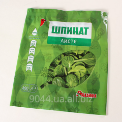 Package VORR Spinach 40PE +25, packing for the