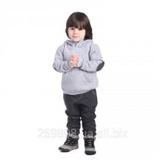 Толстовка с латками на рукавах для мальчика от