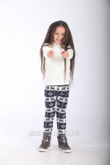 Children's leggings with deer from a