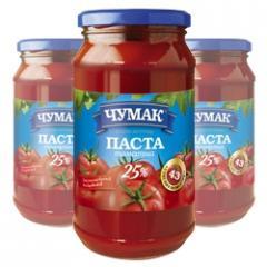 Tomato paste in glass jar (450 g)