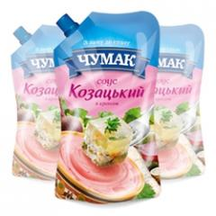 The Cossack sauce with horse-radish in packaging
