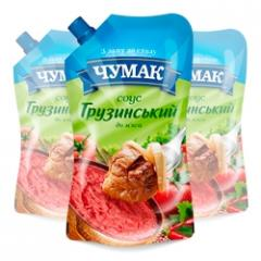 The Georgian sauce in packaging doy-pack ice (200
