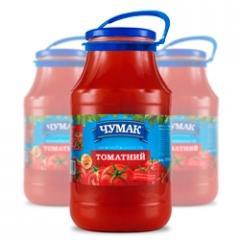 Svezheotzhaty tomato juice in glass jar (1800 ml.)