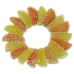 Segments with aroma of orange and a lemon