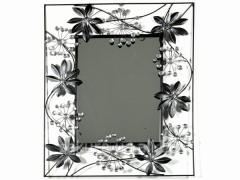 Mirror / Champagne / Frame Metals / Leaves /