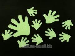 Наклейки фосфорицирующие / Пластик / Рука / Big /