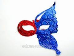 Mask New Year's / 6 pieces in a unitary