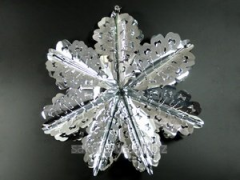 Christmas decoration / g07100 Snowflake / Silver