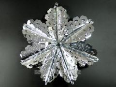 Christmas decoration / g07100 Snowflake / Silver