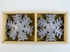 Candle the Snowflake / 7,5 cm / 2 pieces in