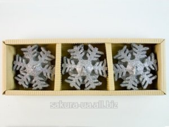 Candle the Snowflake / 5,5 cm / 3 pieces in