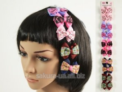 Hairpin / Clip / Bow / Double / 5 flowers / 10