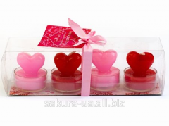 Candle / Heart / Heart in a sleeve / 4 pieces in