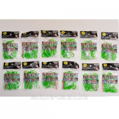 Elastic bands for Weaving / Green / 200 pieces in