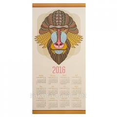 Calendar 2016 / Mask Indian / Monkey of x01001