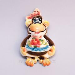 Figure Gzhel / Monkey Magnit Color p10024