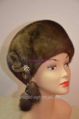 The cap is female, fur mink No. 001zhn