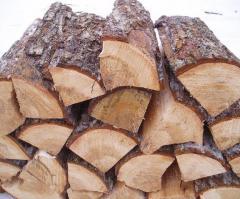 Дубовые колотые сухие дрова