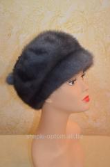 The cap is female, soft, mink No. 012ZhShN