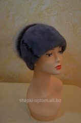 The cap is female, soft, mink with milirovany