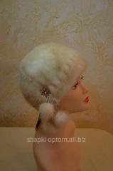 The cap is female, soft, mink No. 016ZhShN