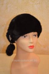The cap is female, soft, mink No. 019ZhShN