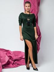Платье длинное с боковым разрезом