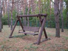 Качели детские, песочницы, деревян.домики для