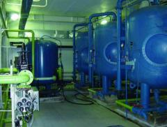 Installations for water purification