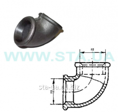 Square pig-iron (knee) of 15 mm V-in GOST 8946-75