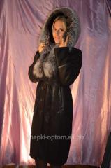 Sheepskin coat, top natural No. 017ShUB