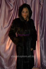 Fur coat from fur of nutria No. 022ShUB