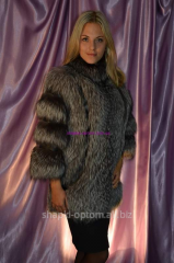 Vest from natural fur of silver fox No. 011Zh