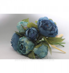 Blue bouquet of peonies
