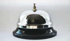 Hand bell a desktop Mechanical call for a
