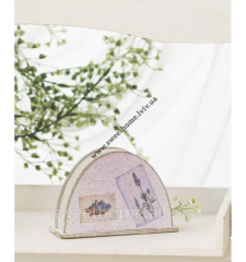 Napkin holder with a lavender