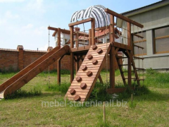 Игровые комплексы для детей, деревянные комплексы