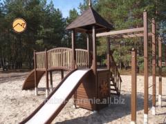 Площадки спортивные деревянные для детей, игровые