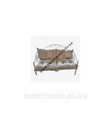 Shod sofa with pillows in style Provence