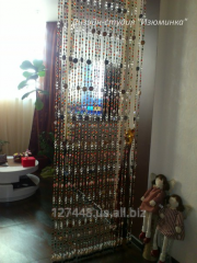Curtain from beads